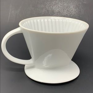 Starbucks Kitchen - Starbucks Pour-Over White Ceramic Mug Drip Filter